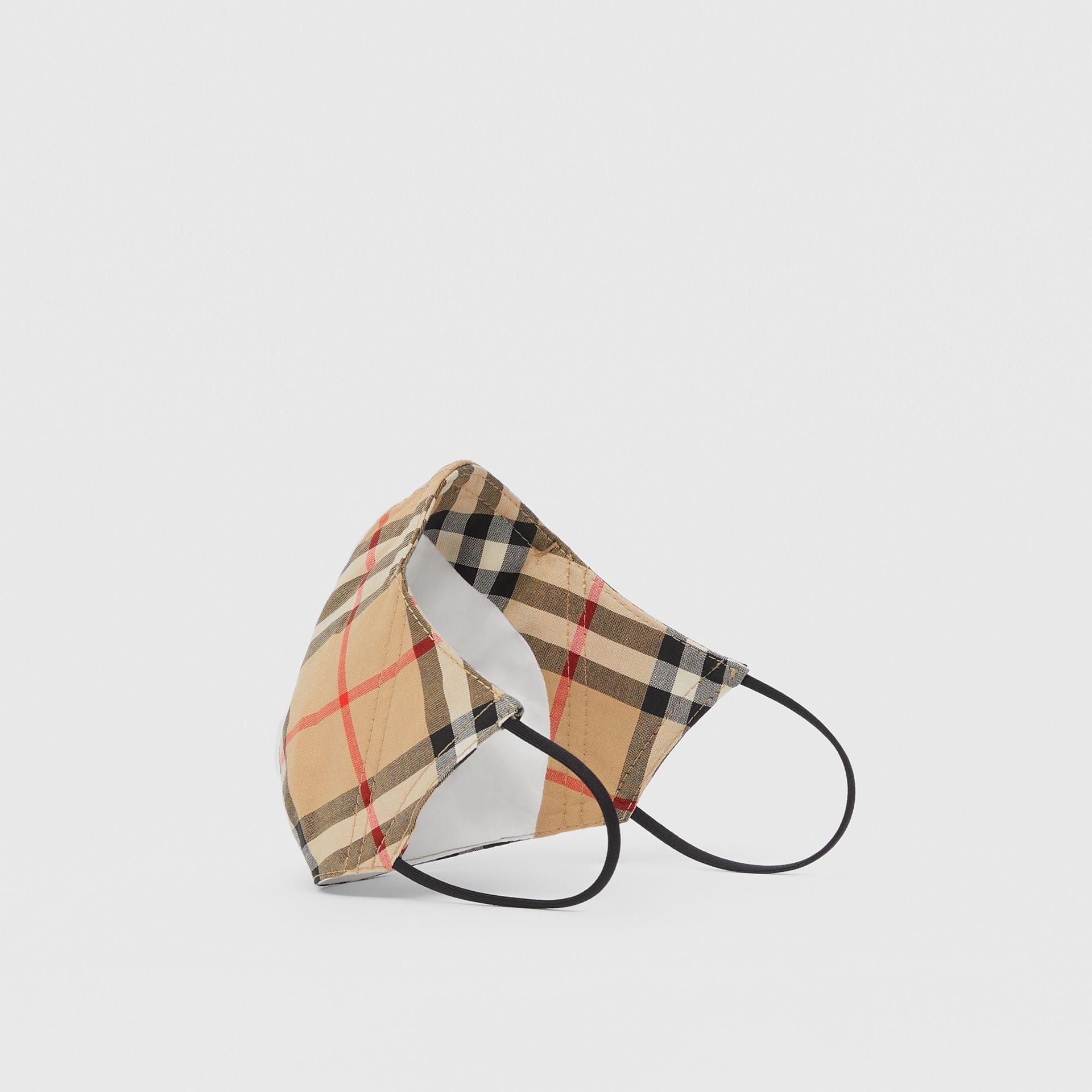 Vintage Check Cotton Face Mask in Archive Beige - Women | Burberry - gallery image 1