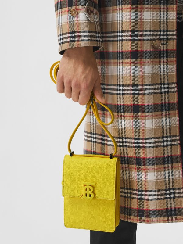 Grainy Leather Robin Bag in Marigold Yellow | Burberry - cell image 3