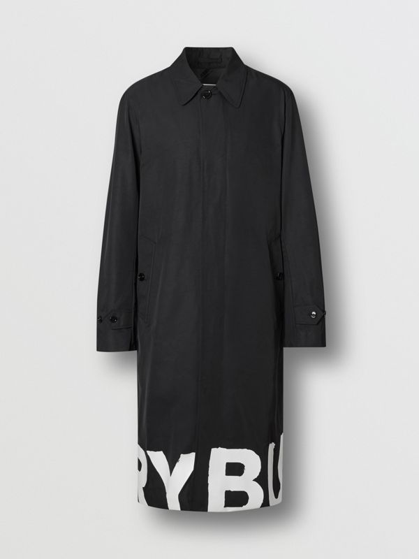 Car coat in nylon con logo stampato (Nero) - Uomo | Burberry - cell image 3