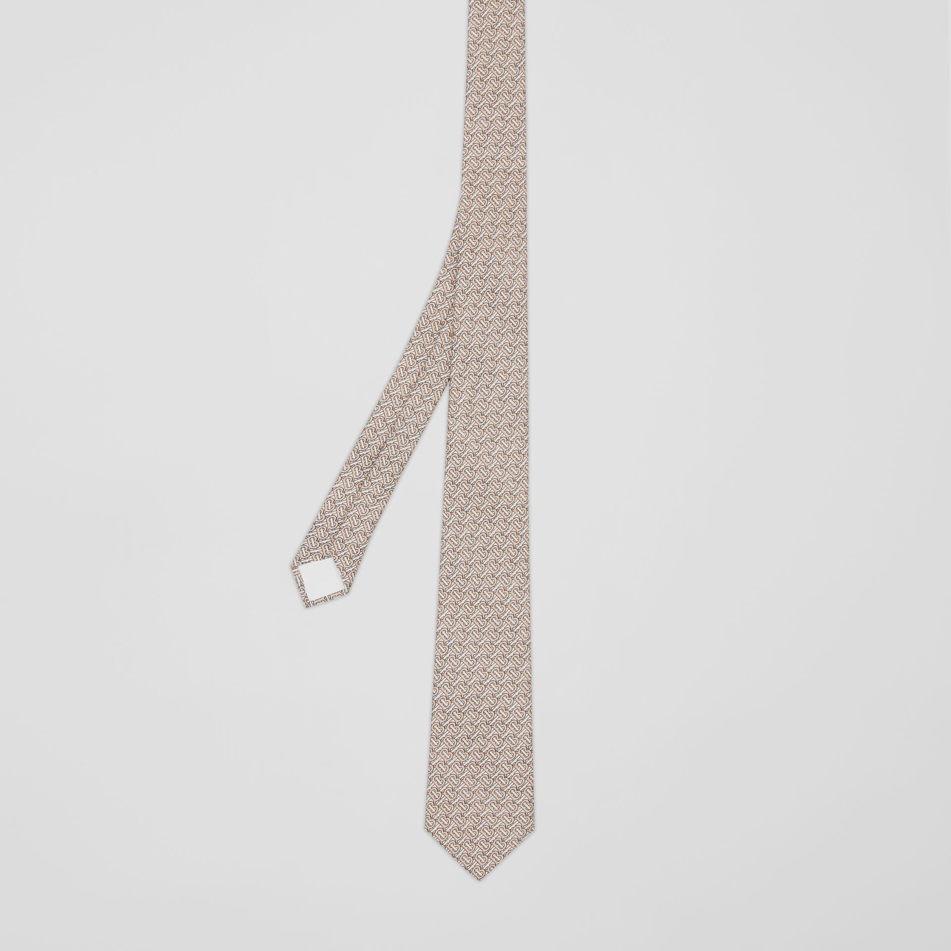 Classic Cut Monogram Silk Jacquard Tie in Blush Pink - Men | Burberry - gallery image 4