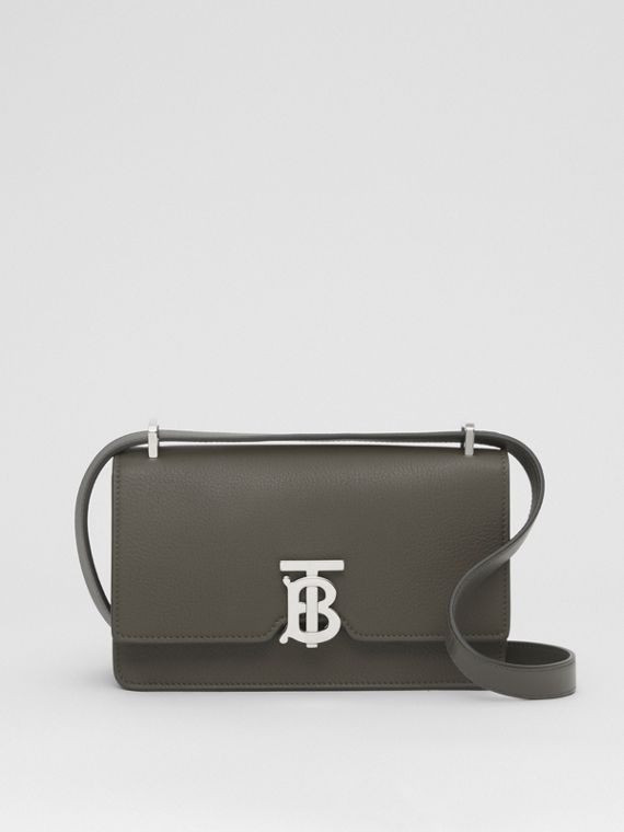 Grainy Leather Low Robin Bag in Military Khaki