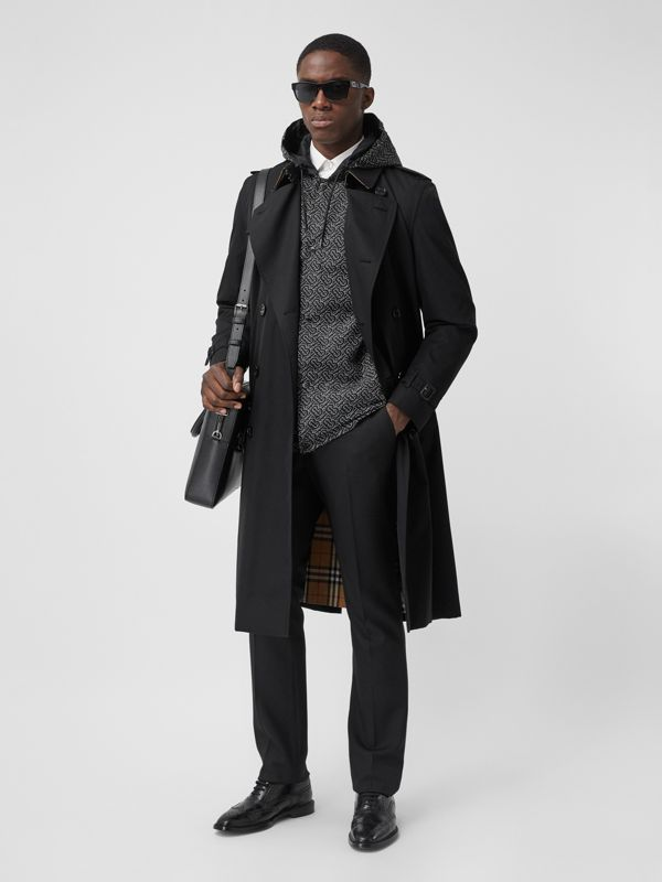 The Long Kensington Heritage Trench Coat in Black - Men | Burberry Australia - cell image 2