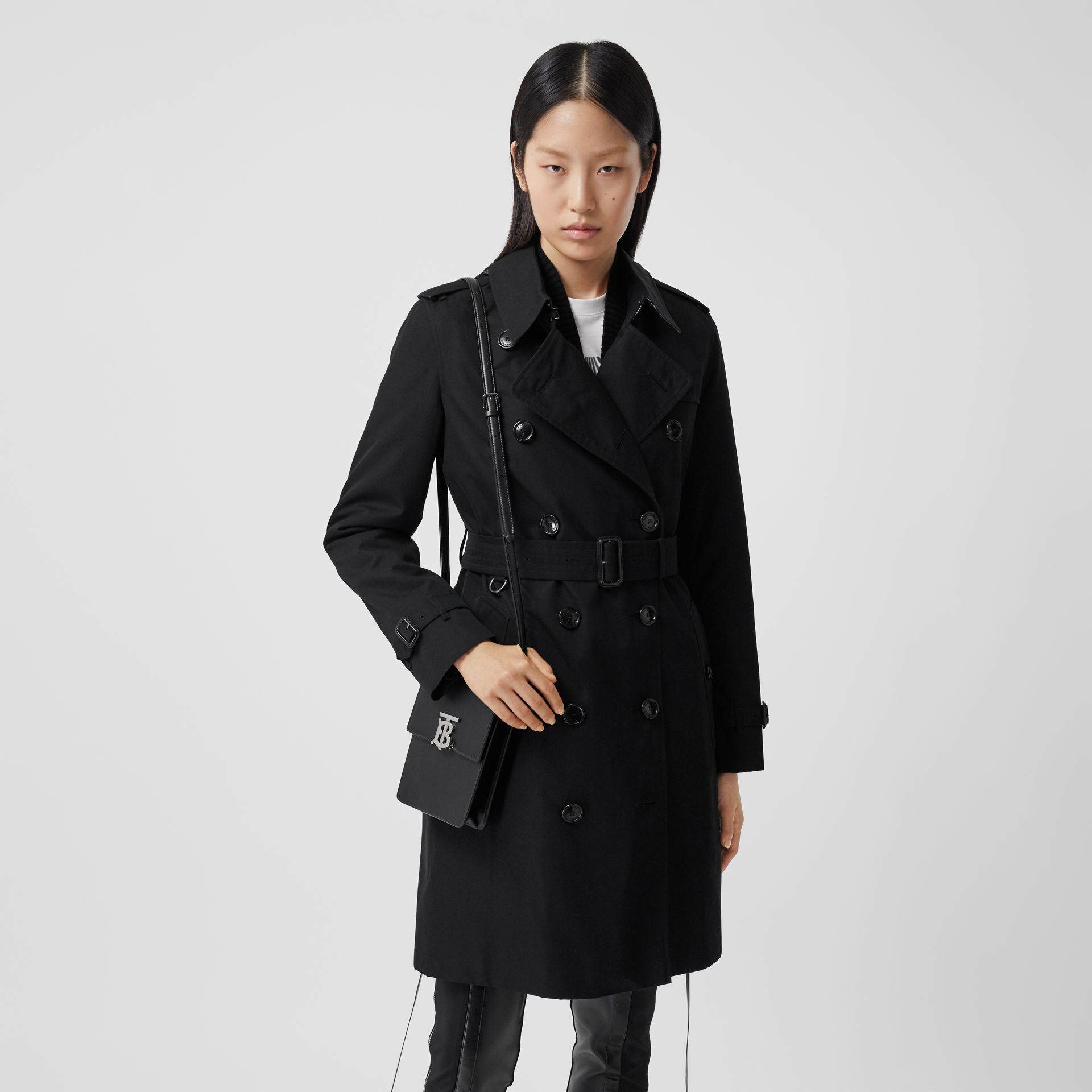 Trench Heritage mi-long The Kensington (Noir) - Femme | Burberry Canada - photo de la galerie 6