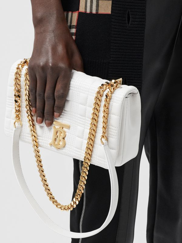 Small Quilted Lambskin Lola Bag in White | Burberry - cell image 2