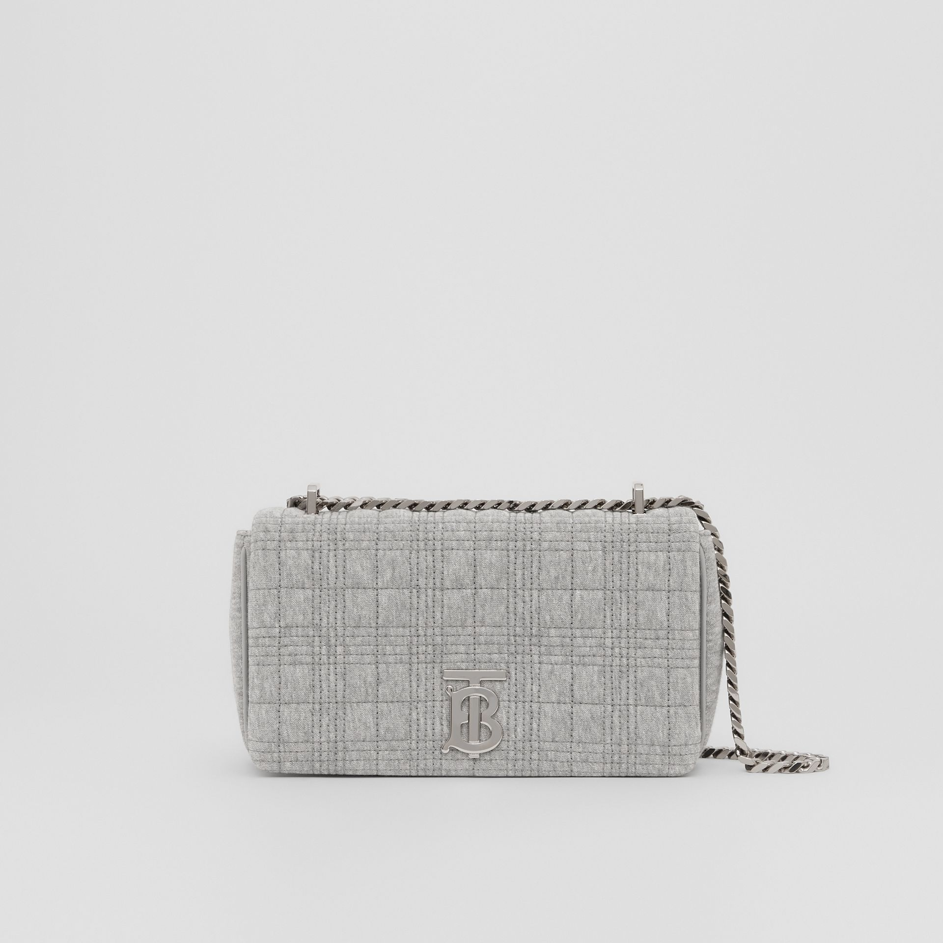 Small Quilted Jersey Lola Bag in Grey Taupe Melange | Burberry Hong Kong S.A.R. - gallery image 0