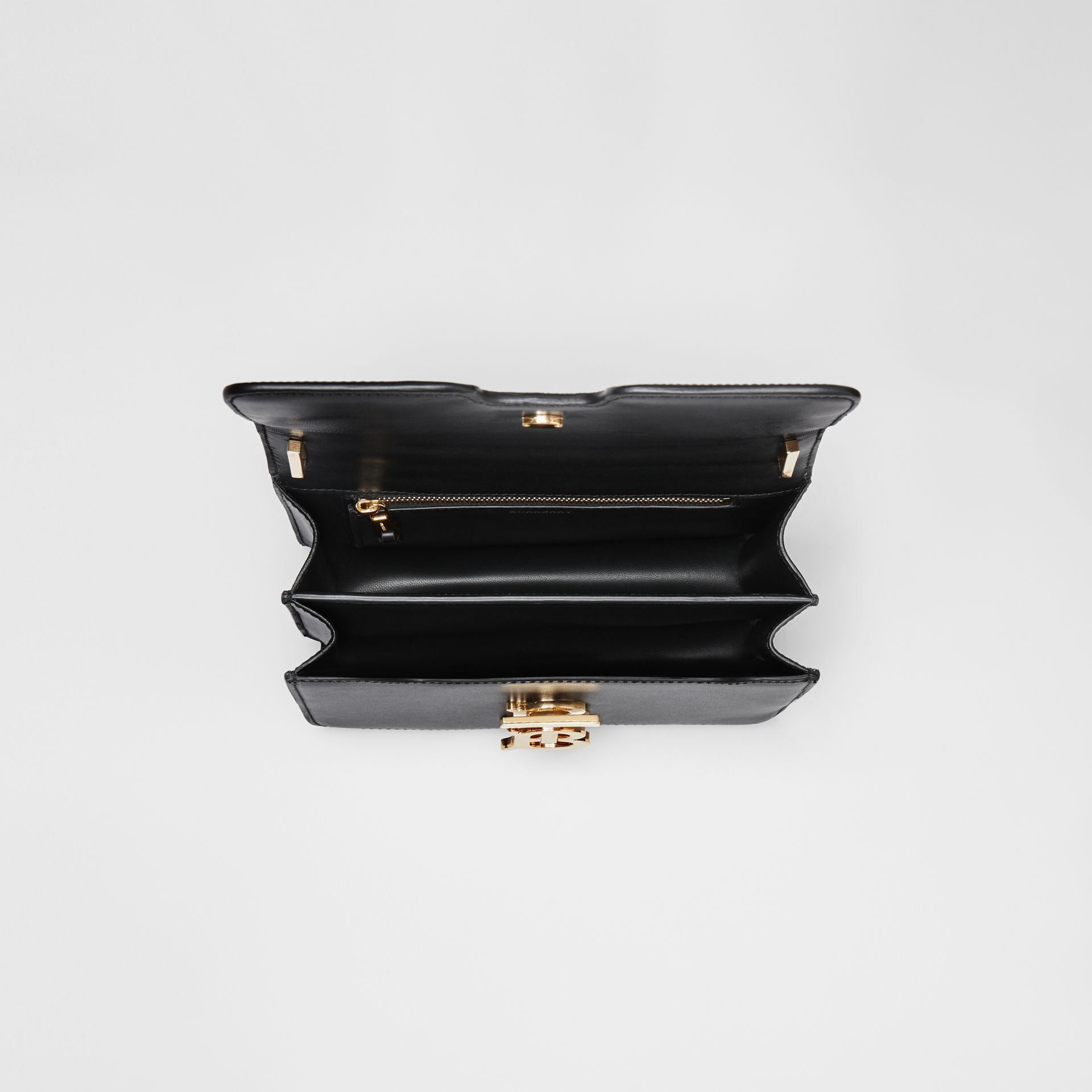 Small Leather TB Bag in Black - Women | Burberry Hong Kong S.A.R. - gallery image 4