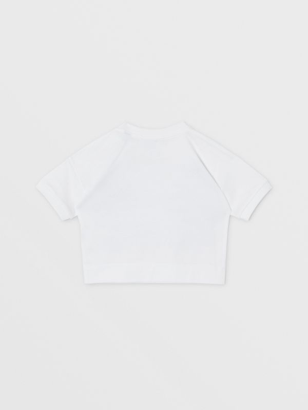 Confectionery Print Cotton T-shirt in White - Children | Burberry Canada - cell image 3