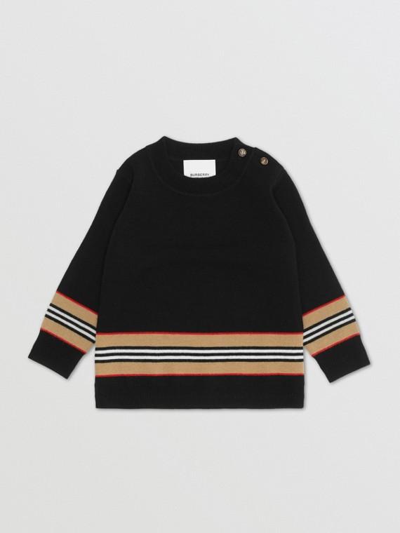 Icon Stripe Panel Merino Wool Sweater