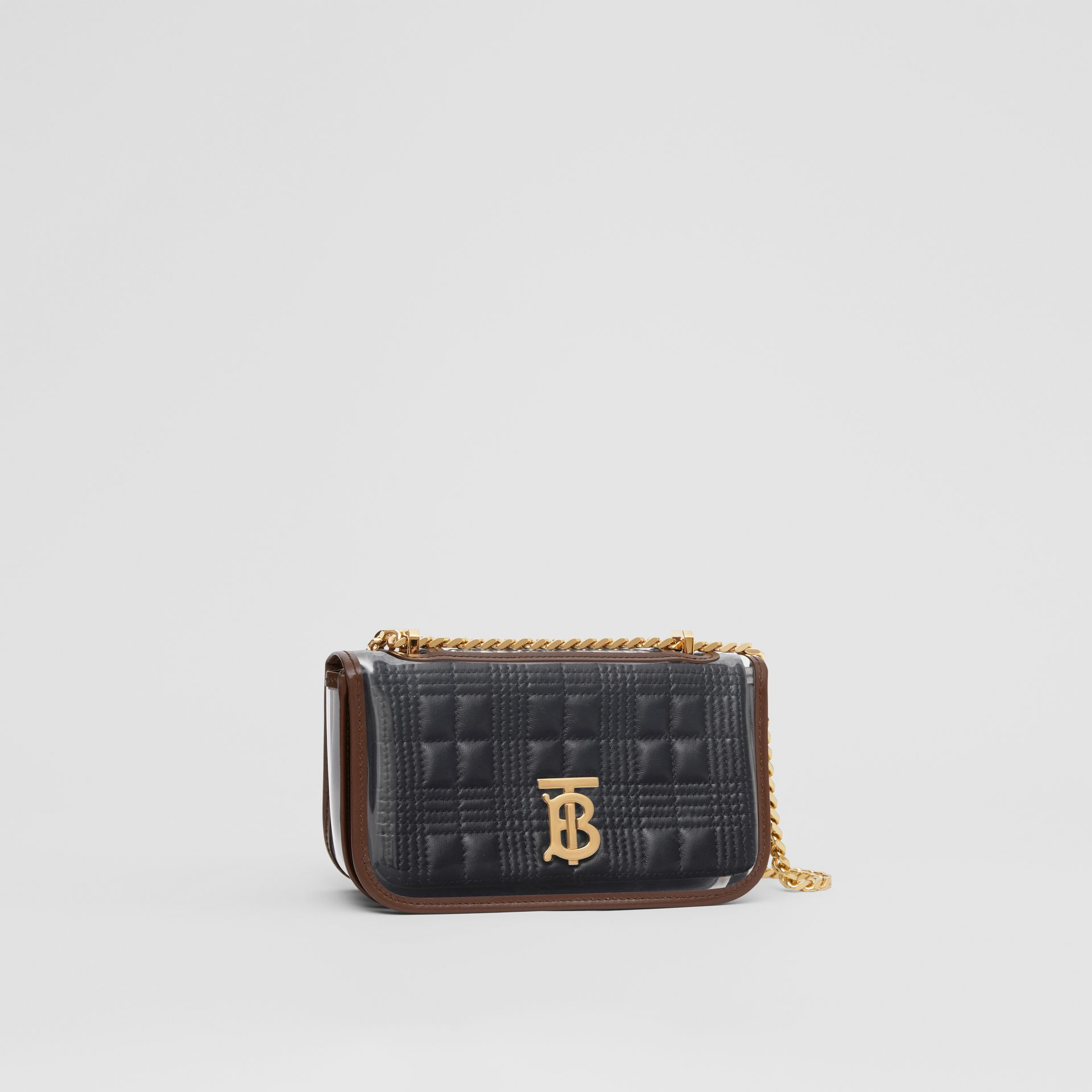 Mini Quilted Lambskin Lola Bag with Transparent Cover - Women | Burberry - gallery image 6