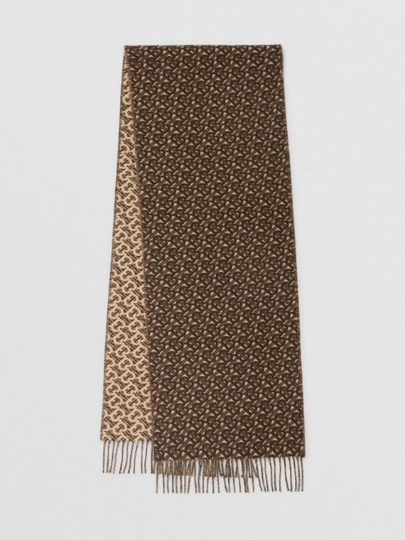 花押字喀什米爾提花圍巾 (馬勒棕)