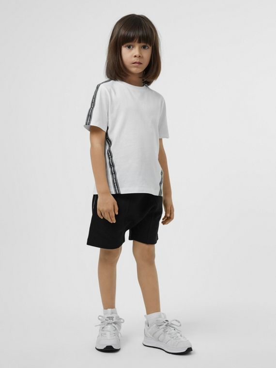 Logo Tape Cotton T-shirt in White
