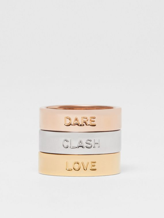 Rose Gold, Palladium and Gold-plated Rings in Light