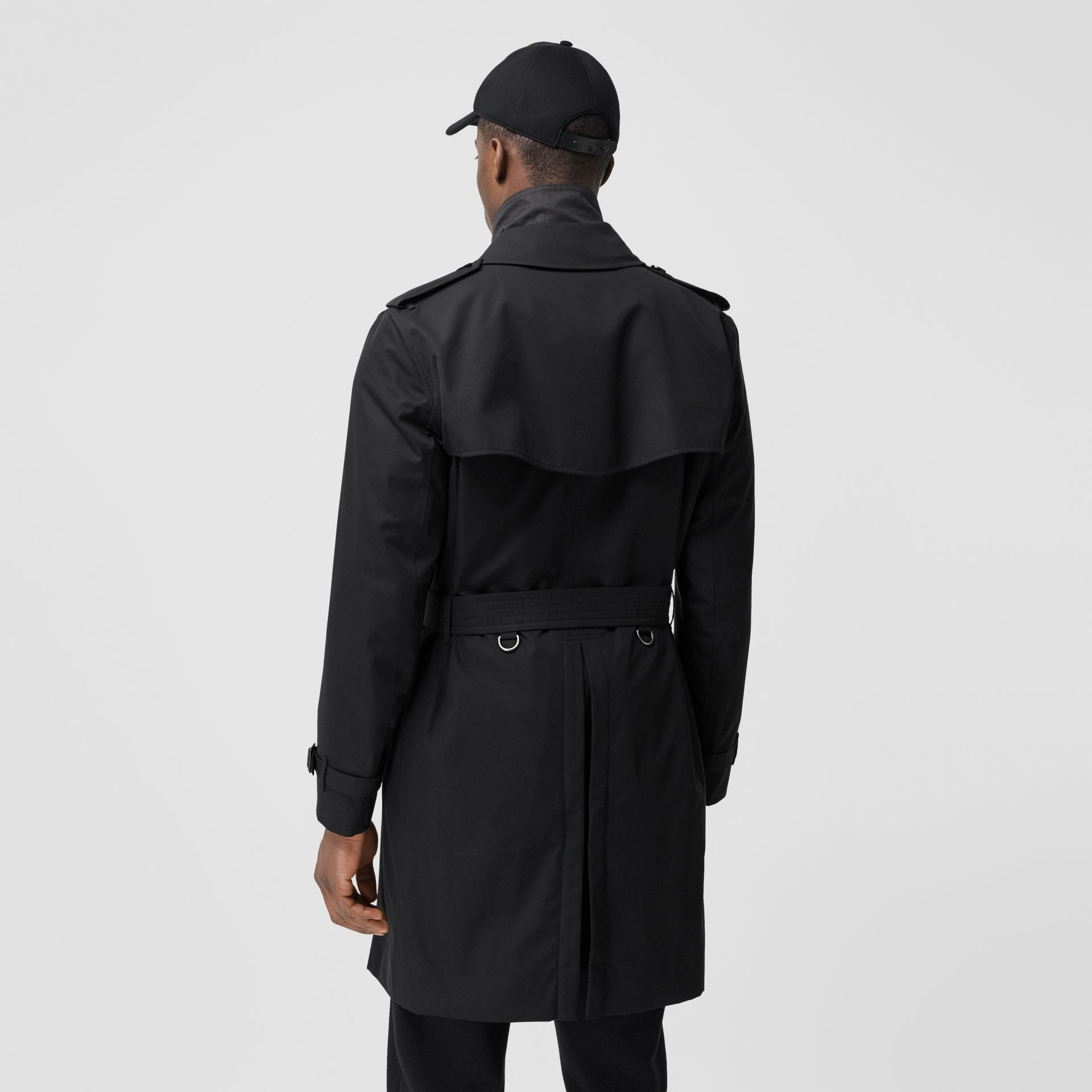 The Mid-length Kensington Heritage Trench Coat in Black - Men | Burberry - gallery image 3