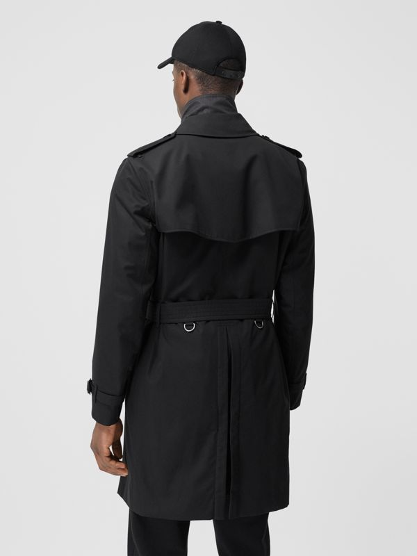 The Mid-length Kensington Heritage Trench Coat in Black - Men | Burberry Canada - cell image 3