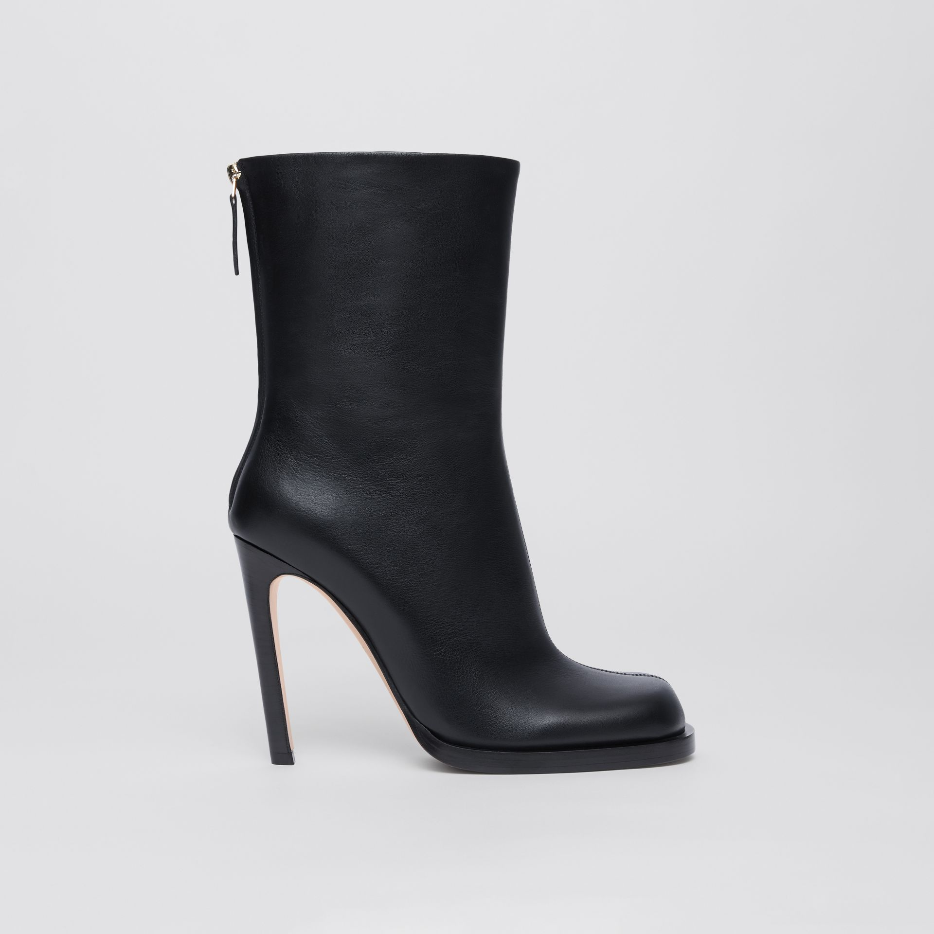 Vintage Check-lined Leather Ankle Boots in Black - Women | Burberry - gallery image 5