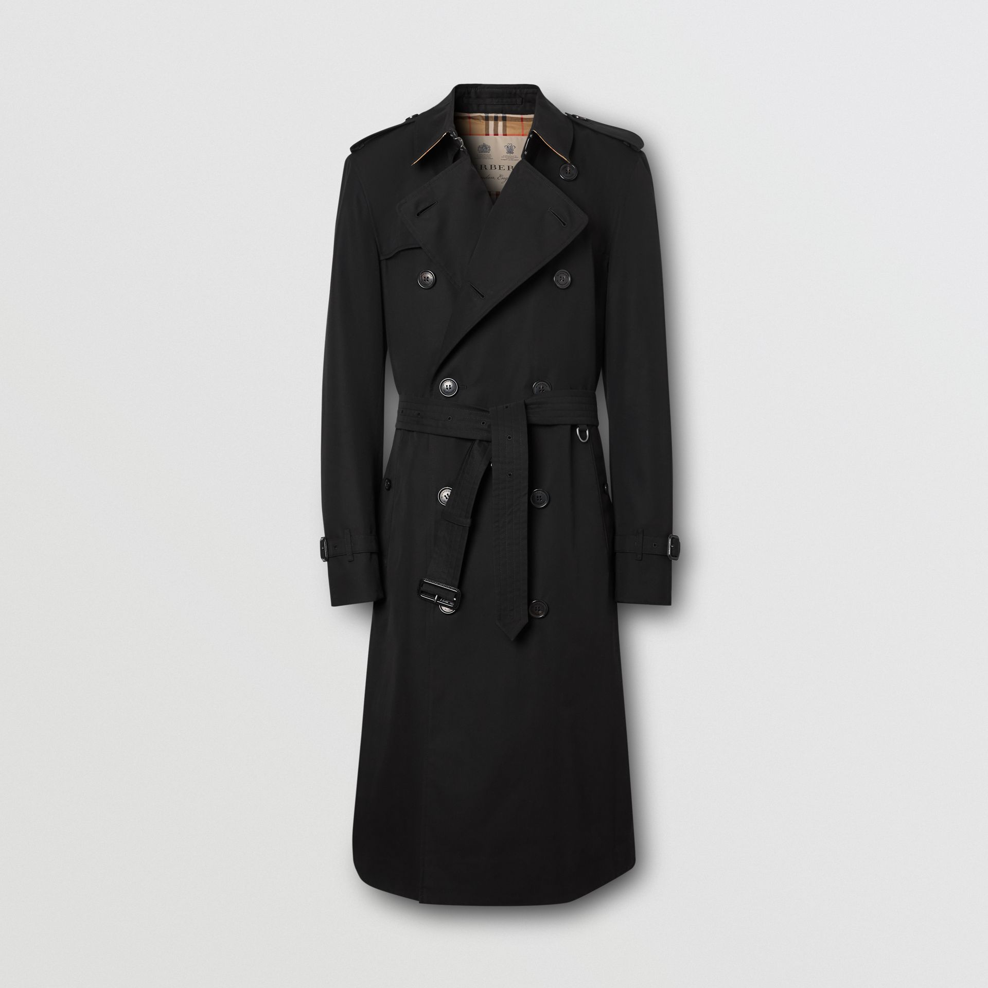 The Long Chelsea Heritage Trench Coat in Black - Men   Burberry - gallery image 3