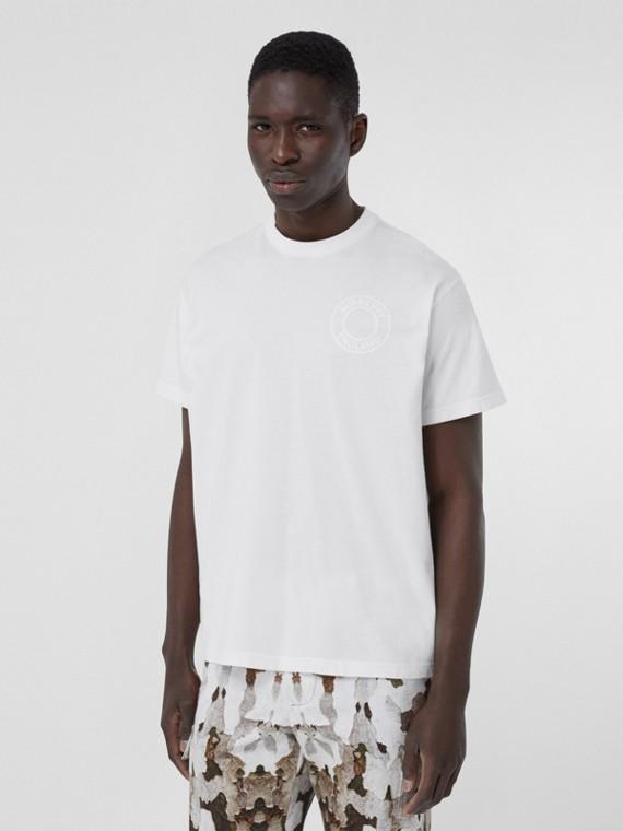 Oversize-T-Shirt aus Baumwolle mit Logo-Grafik (Weiß)