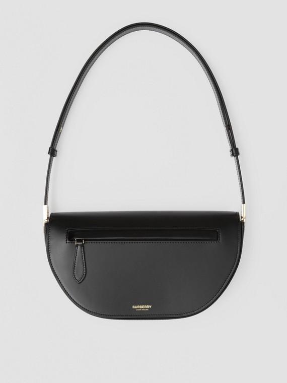 Petit sac Olympia en cuir (Noir)