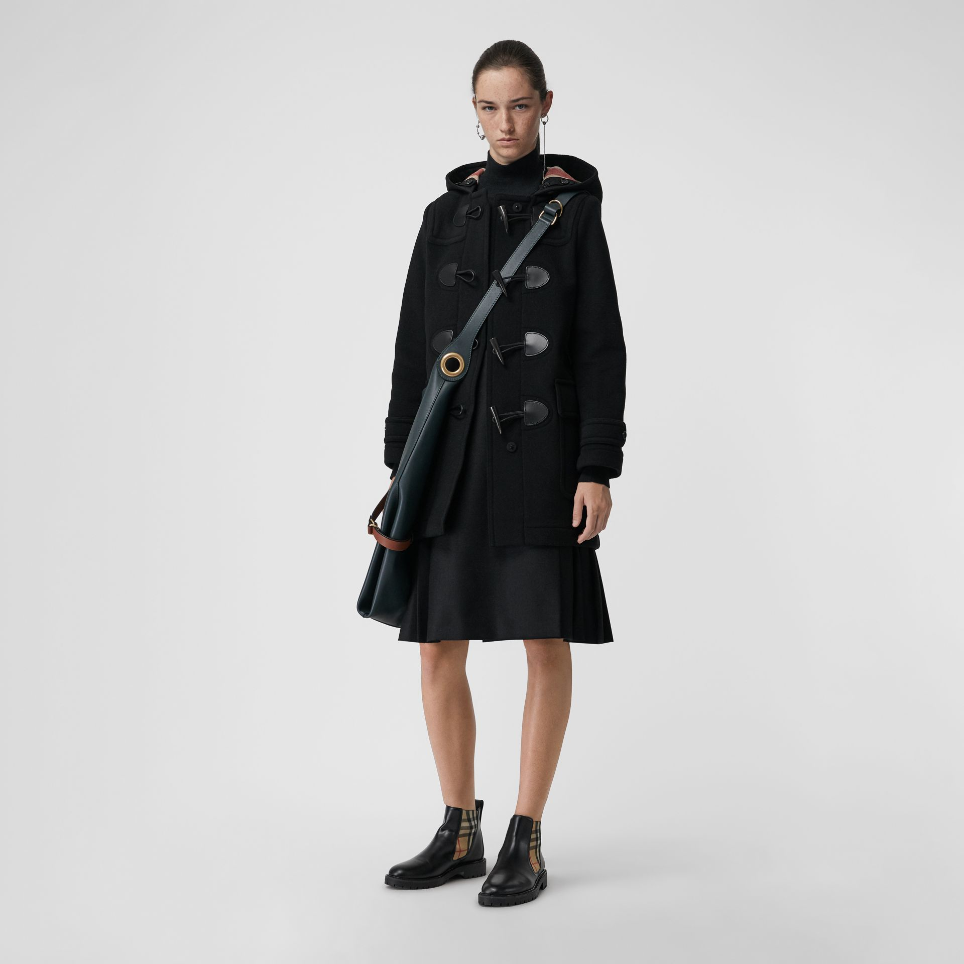 The Mersey Duffle Coat in Black - Women | Burberry - gallery image 0