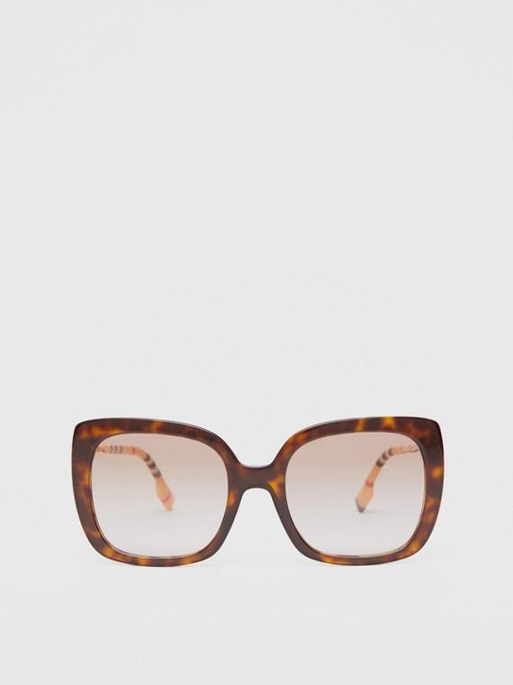 Oversized Square Frame Sunglasses in Tortoiseshell