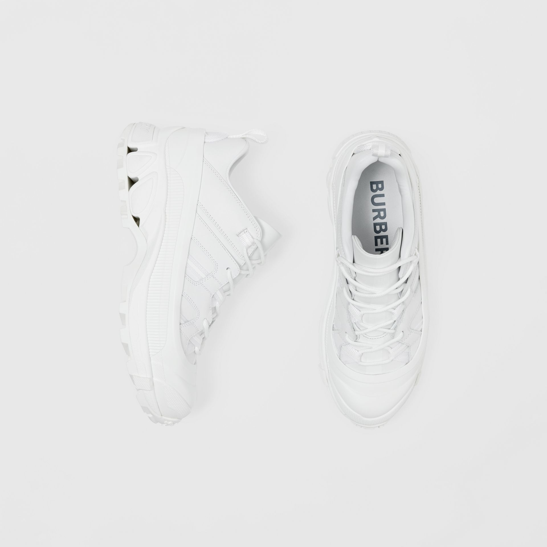 Leather Arthur Sneakers in White - Women | Burberry - gallery image 0