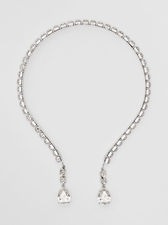 Crystal Detail and Palladium-plated Hairband