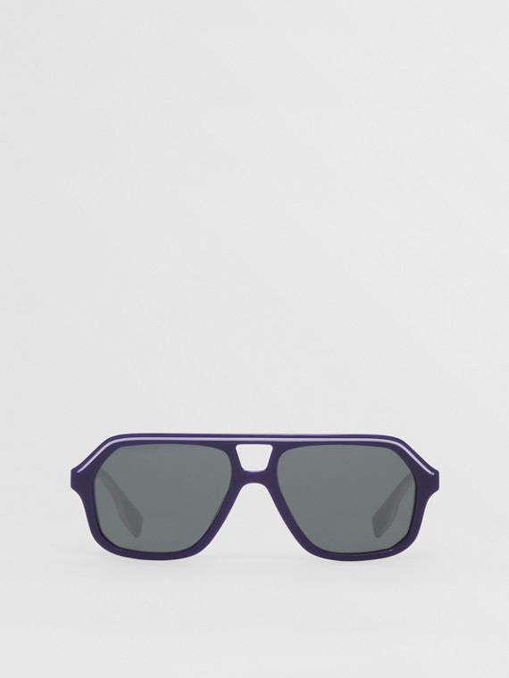 Navigator Sunglasses in Dark Blue