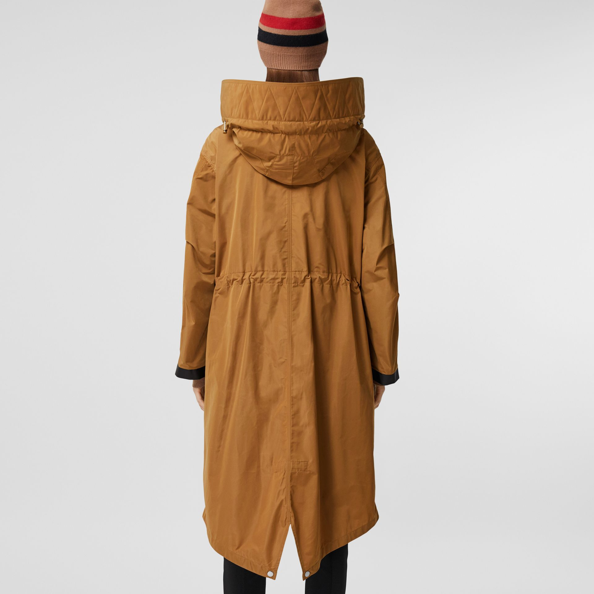 Detachable Hood Shape-memory Taffeta Parka in Camel - Women | Burberry - gallery image 2