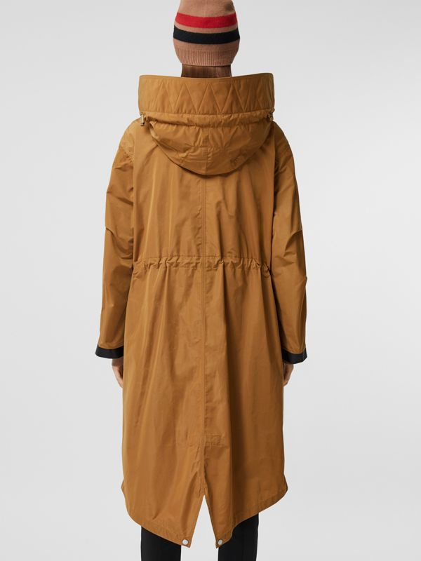 Detachable Hood Shape-memory Taffeta Parka in Camel - Women | Burberry - cell image 2