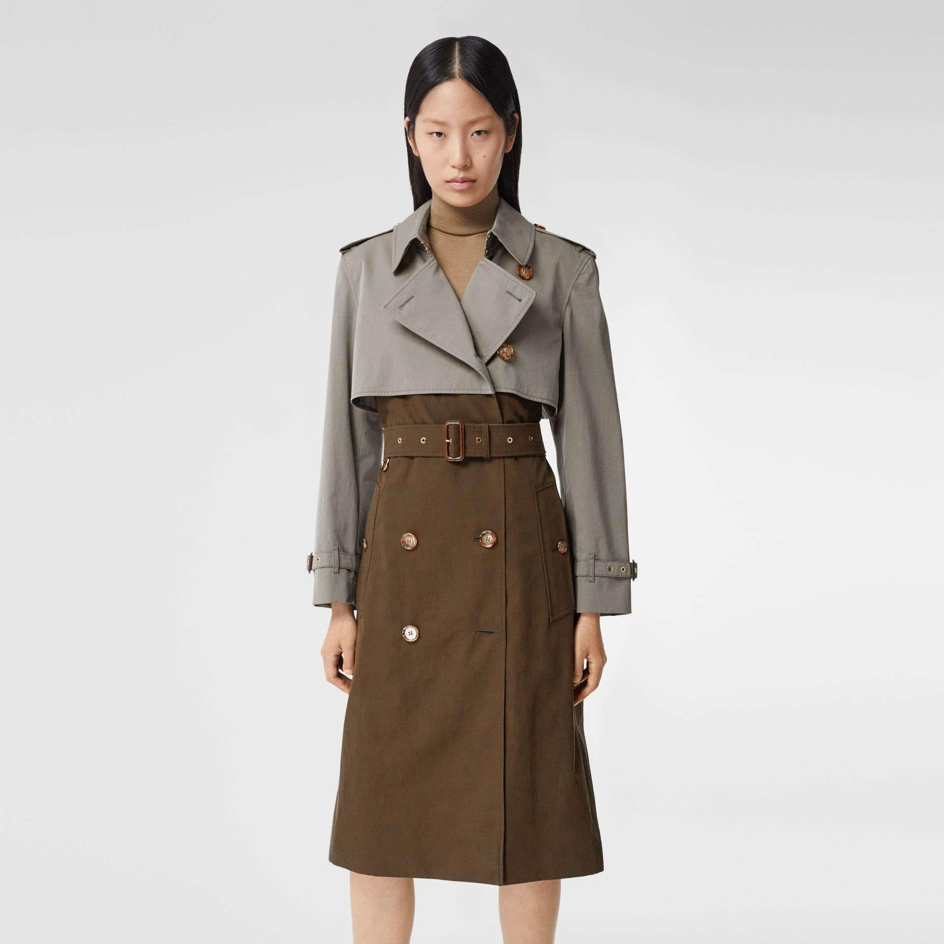 Two-tone Reconstructed Trench Coat - Women | Burberry - gallery image 6
