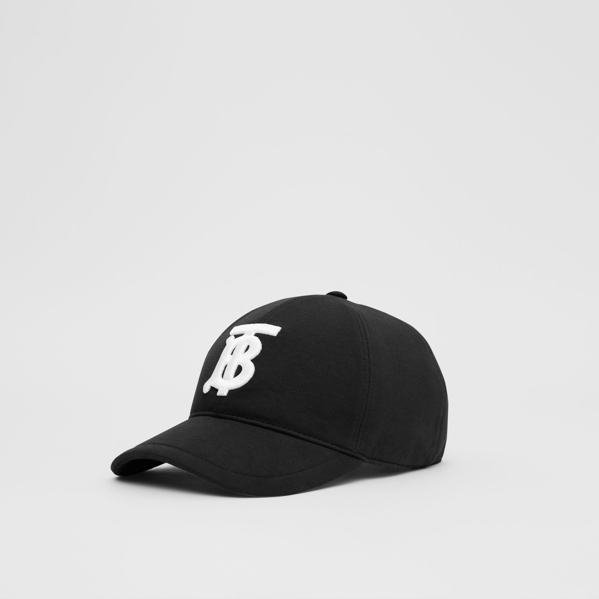 Monogram Motif Cotton Jersey Baseball Cap in Black | Burberry - gallery image 4