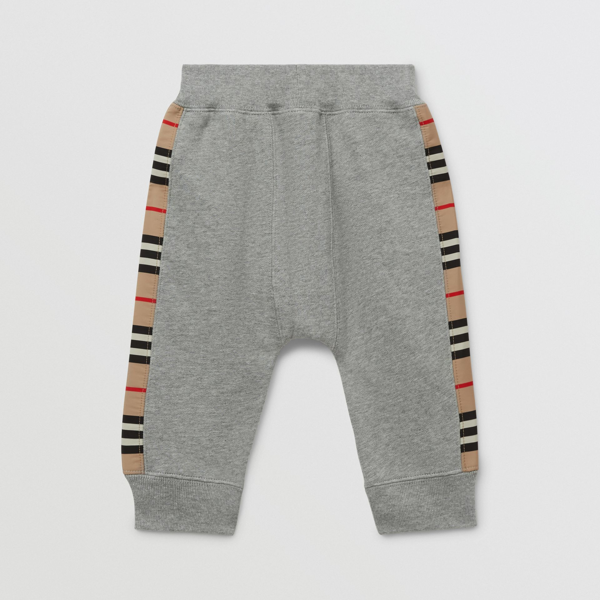 Icon Stripe Panel Cotton Trackpants - Children | Burberry United Kingdom - gallery image 2