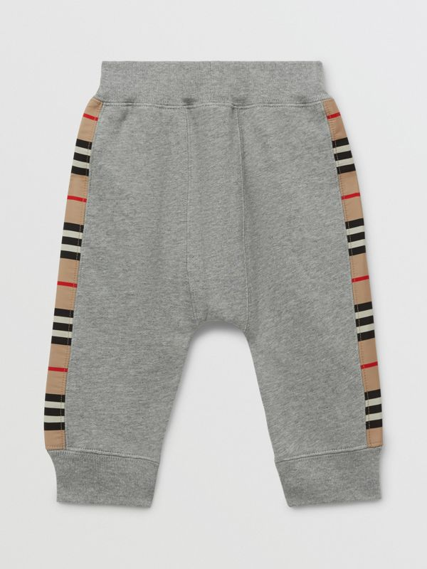 Icon Stripe Panel Cotton Trackpants - Children | Burberry United Kingdom - cell image 2