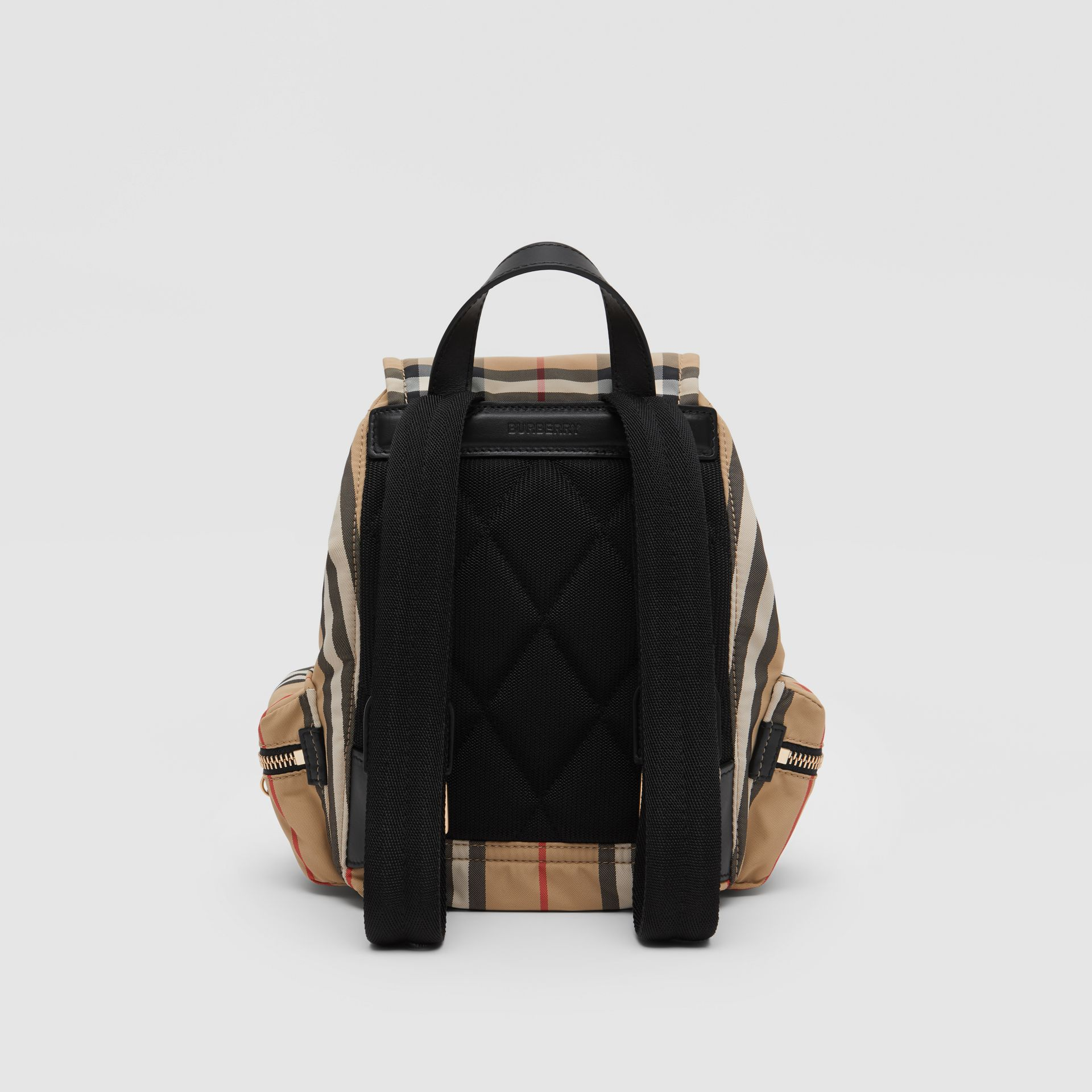 The Small Rucksack in Icon Stripe ECONYL® in Archive Beige - Women | Burberry Australia - gallery image 5
