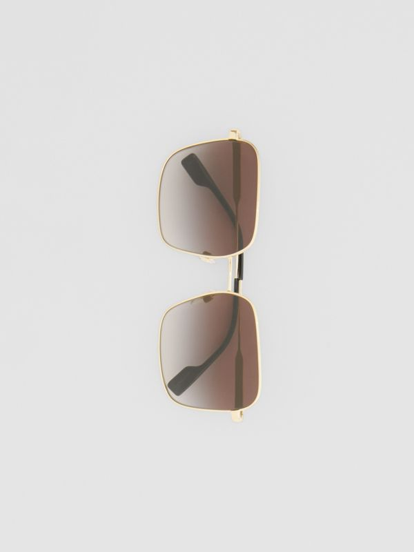 Oversized Square Frame Sunglasses in Black - Women | Burberry - cell image 3