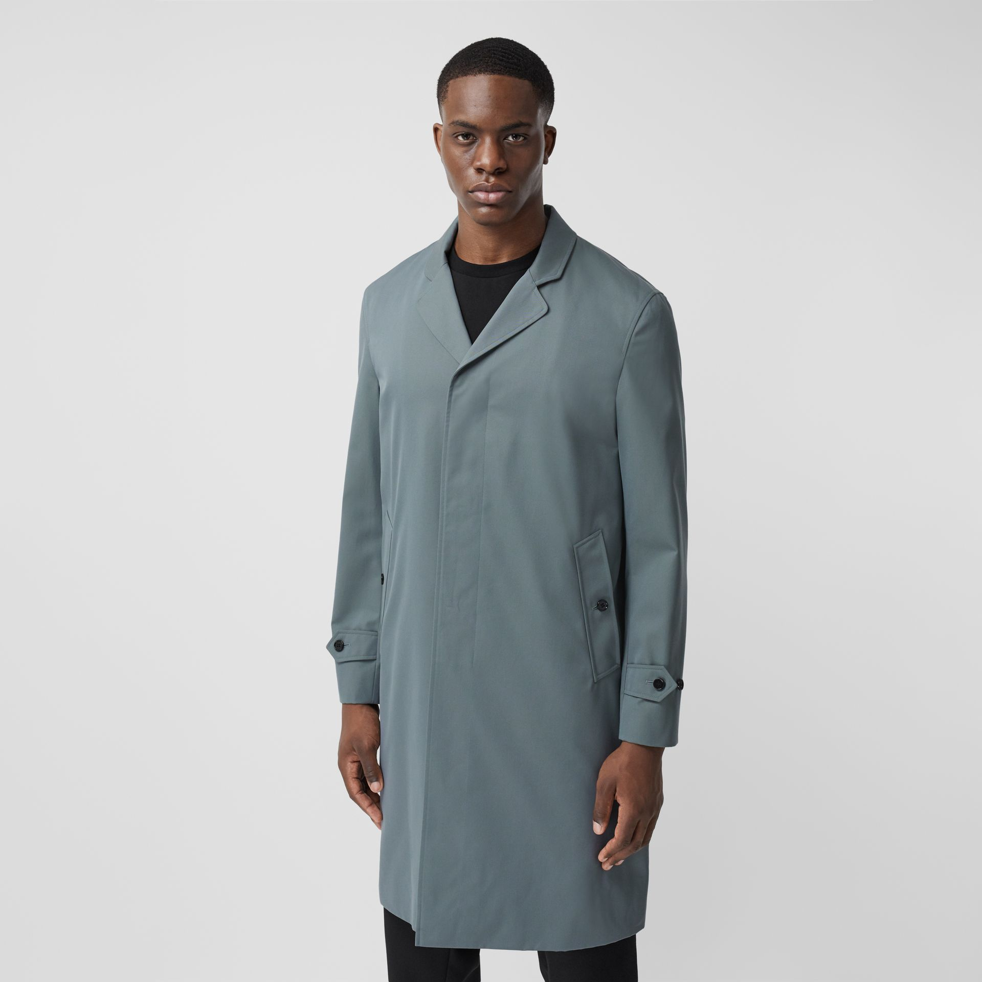 Cotton Gabardine Car Coat - Men | Burberry United Kingdom - gallery image 5