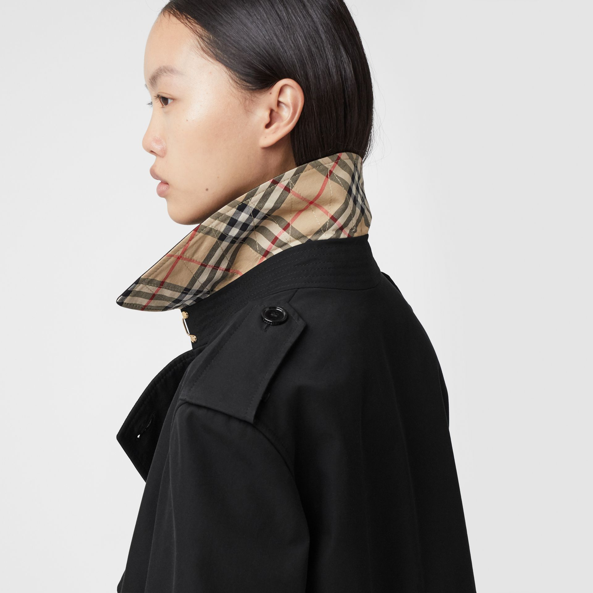 Two-tone Reconstructed Trench Coat in Black - Women | Burberry - gallery image 5
