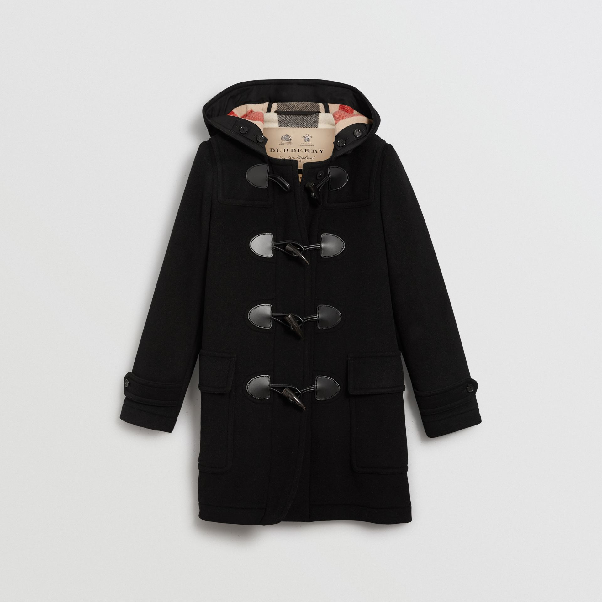 The Mersey Duffle Coat in Black - Women | Burberry Canada - gallery image 3