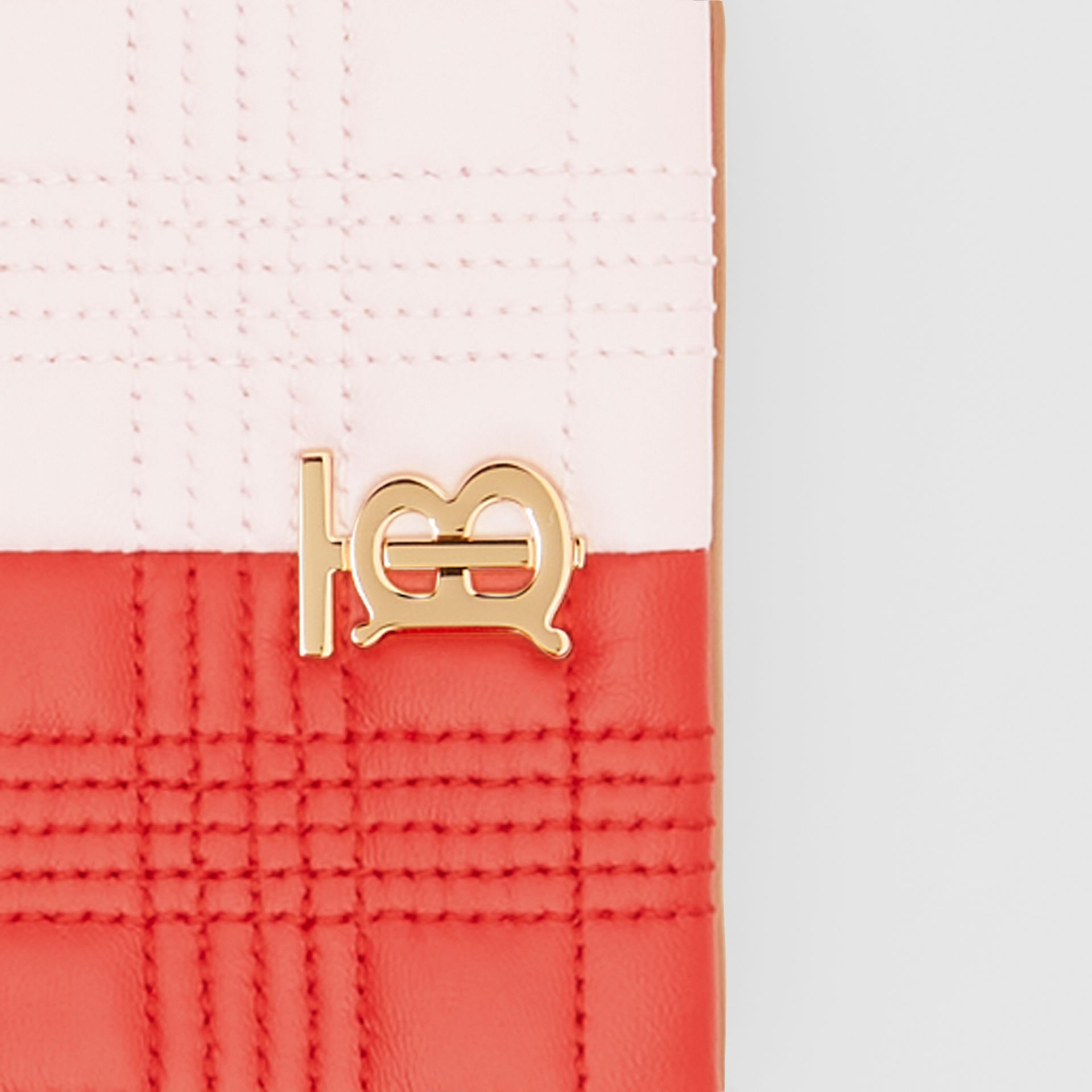 Micro Quilted Tri-tone Lambskin Lola Bag in Red/pink/camel - Women | Burberry - gallery image 1