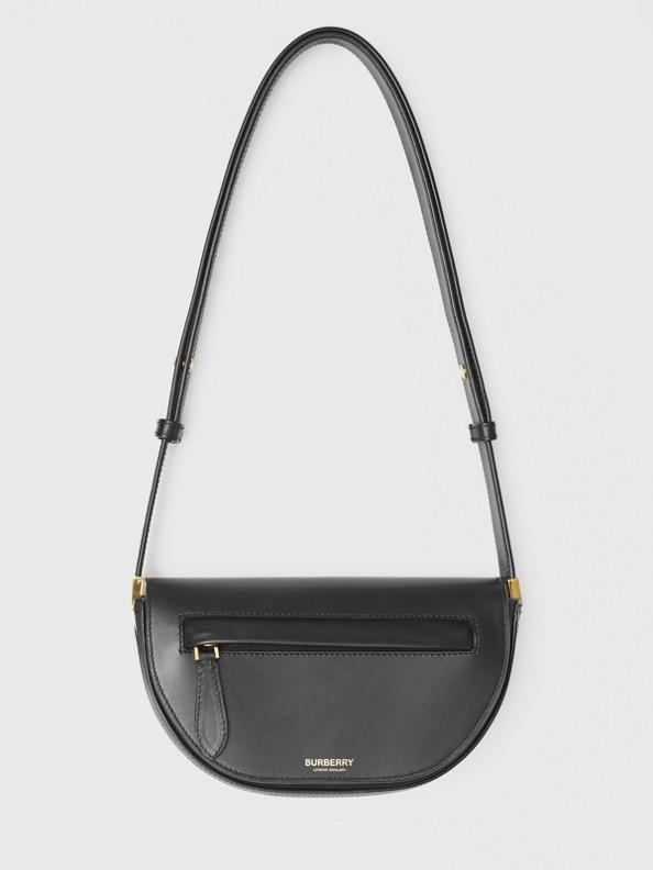 Mini Leather Olympia Bag in Black