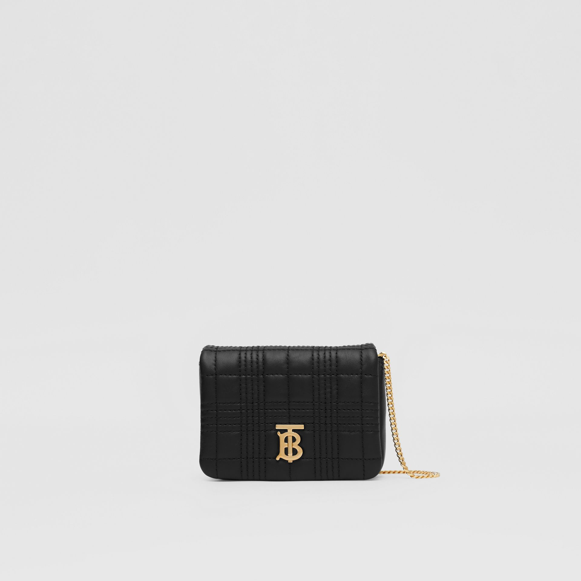 Micro Quilted Lambskin Lola Bag in Black - Women | Burberry Australia - gallery image 0
