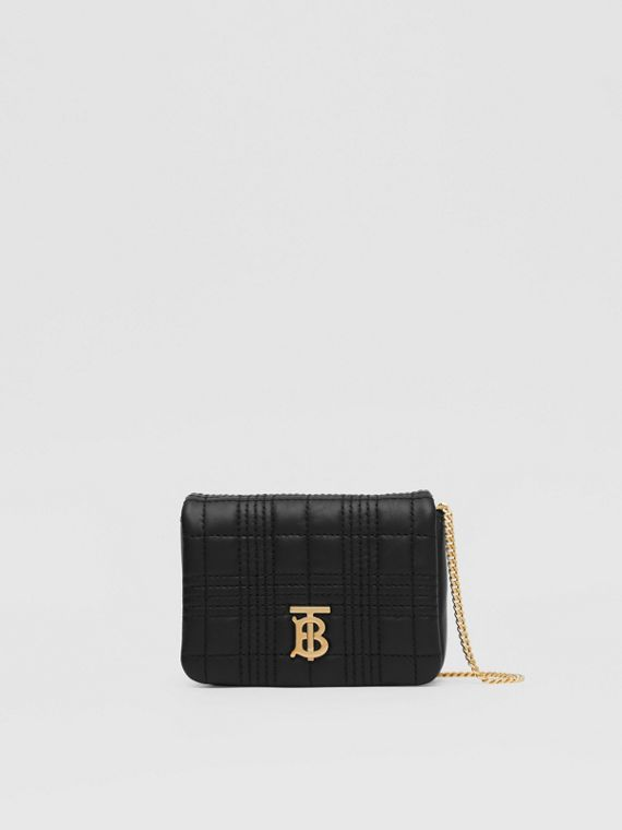Micro Quilted Lambskin Lola Bag in Black