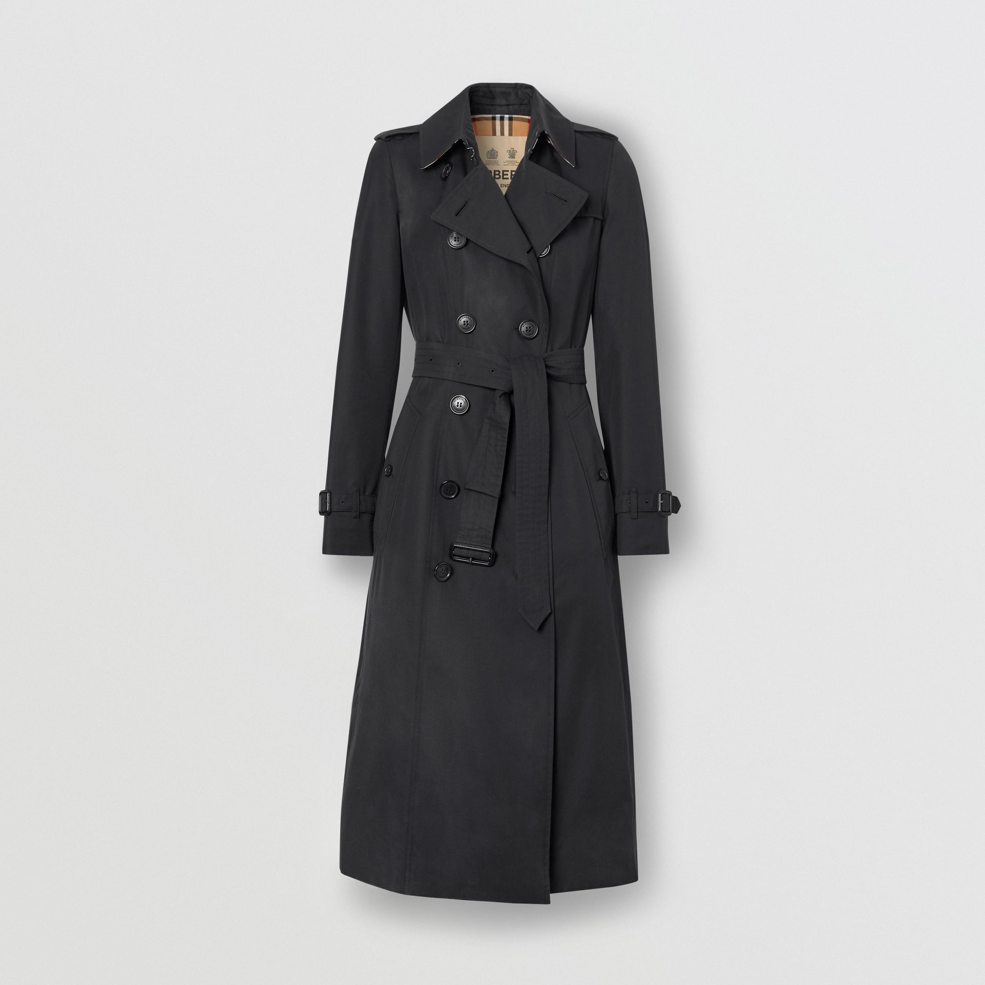 The Long Chelsea Heritage Trench Coat in Midnight | Burberry United States - gallery image 2