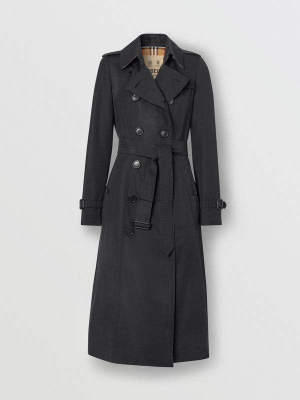 The Long Chelsea Heritage Trench Coat in Midnight | Burberry United States - cell image 2