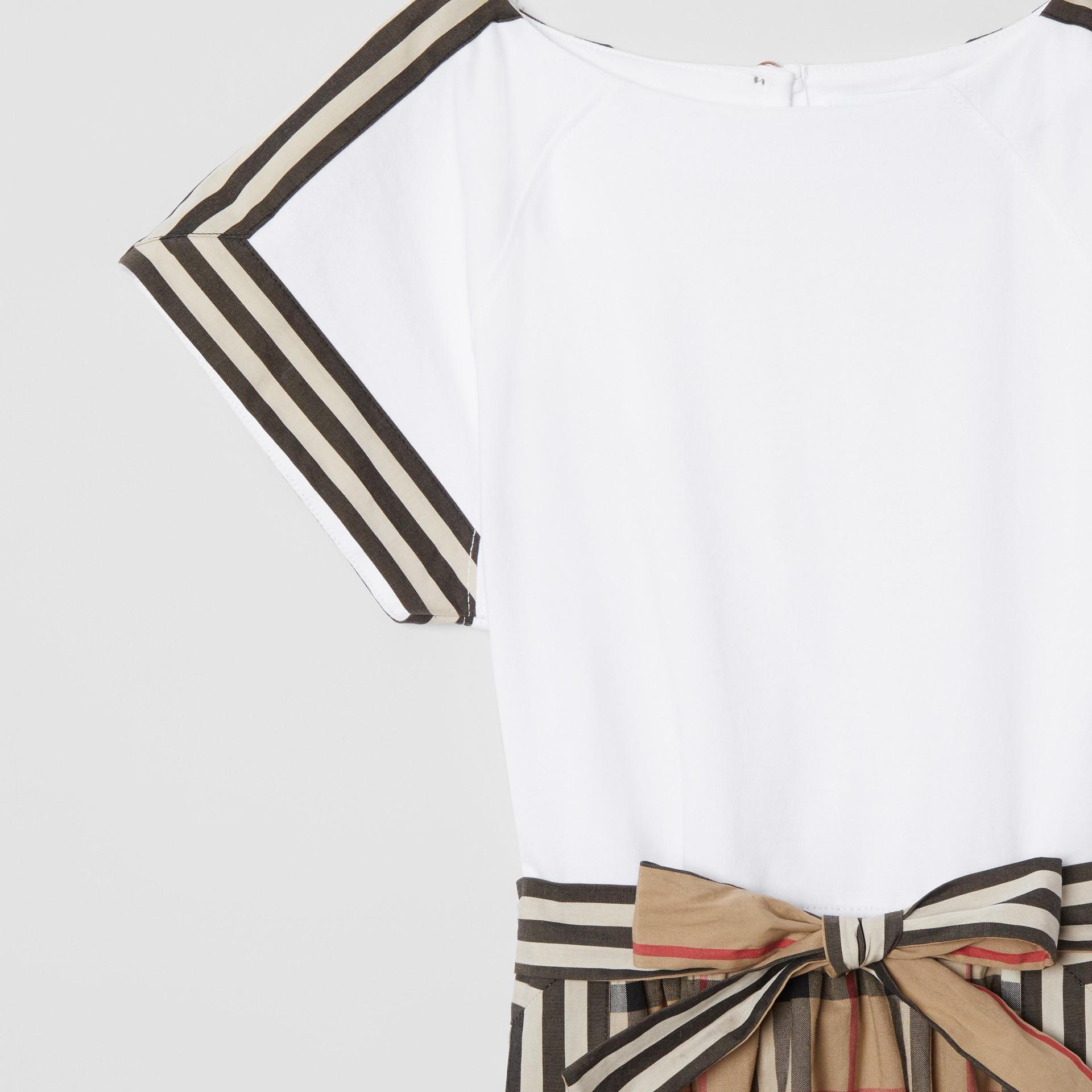 Vintage Check Detail Cotton Dress | Burberry United Kingdom - gallery image 4