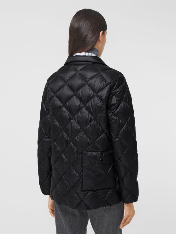 Diamond Quilted Down-filled Jacket in Black - Women | Burberry - cell image 2