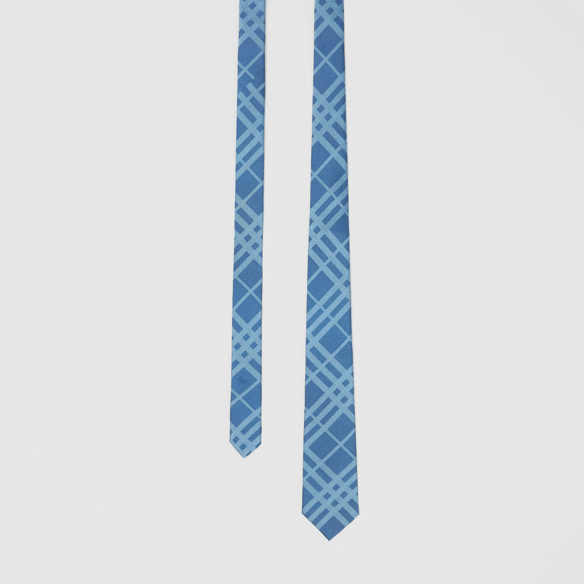 Classic Cut Check Silk Jacquard Tie in Blue Topaz - Men | Burberry - gallery image 0