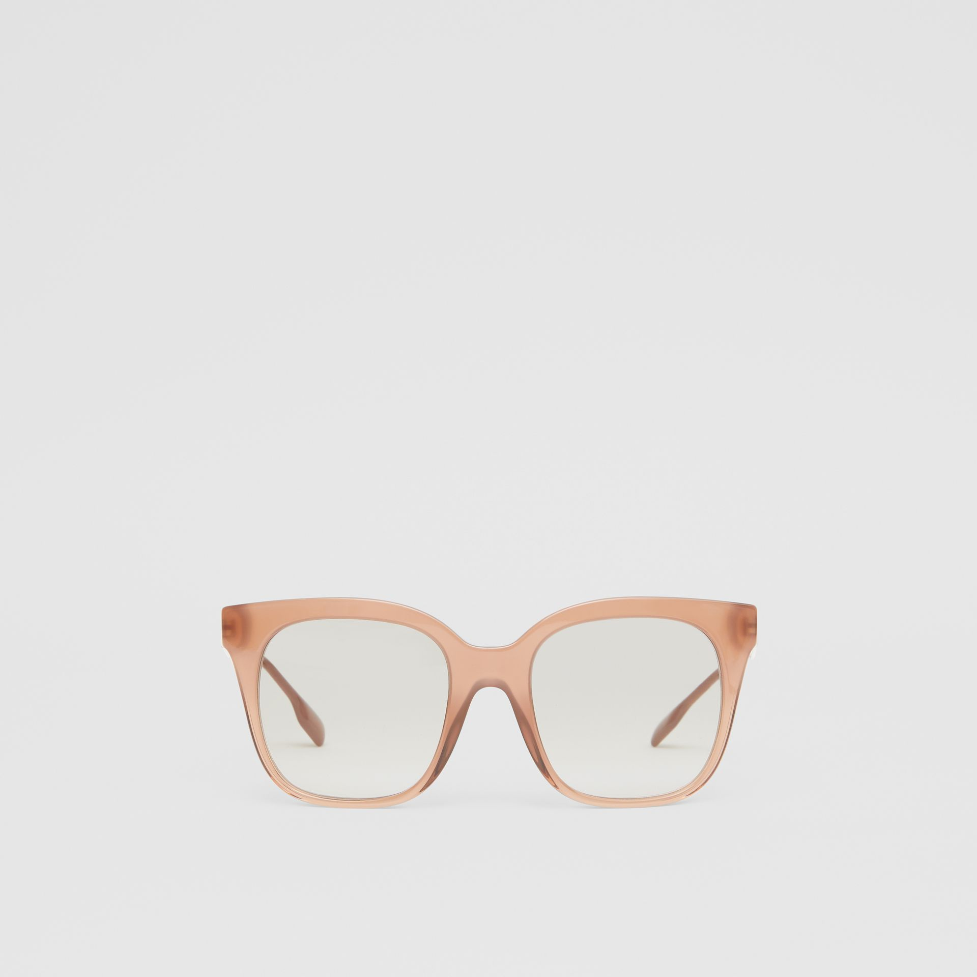 Butterfly Frame Sunglasses in Nude Pink - Women | Burberry - gallery image 0