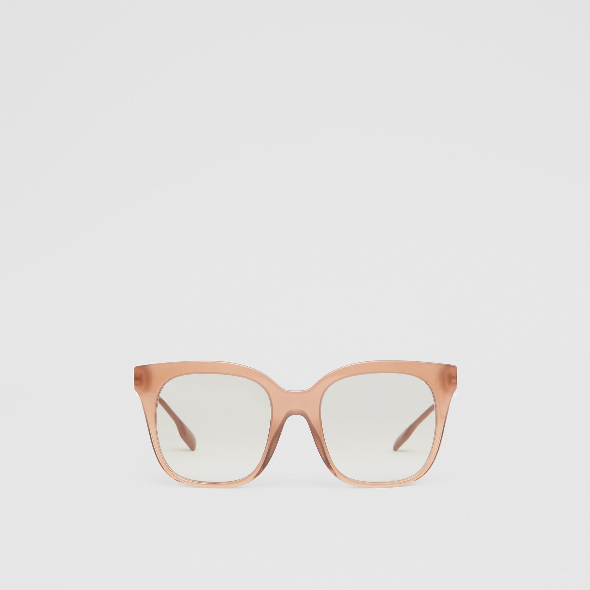 Occhiali da sole con montatura a farfalla (Rosa Nude) - Donna | Burberry - immagine della galleria 0