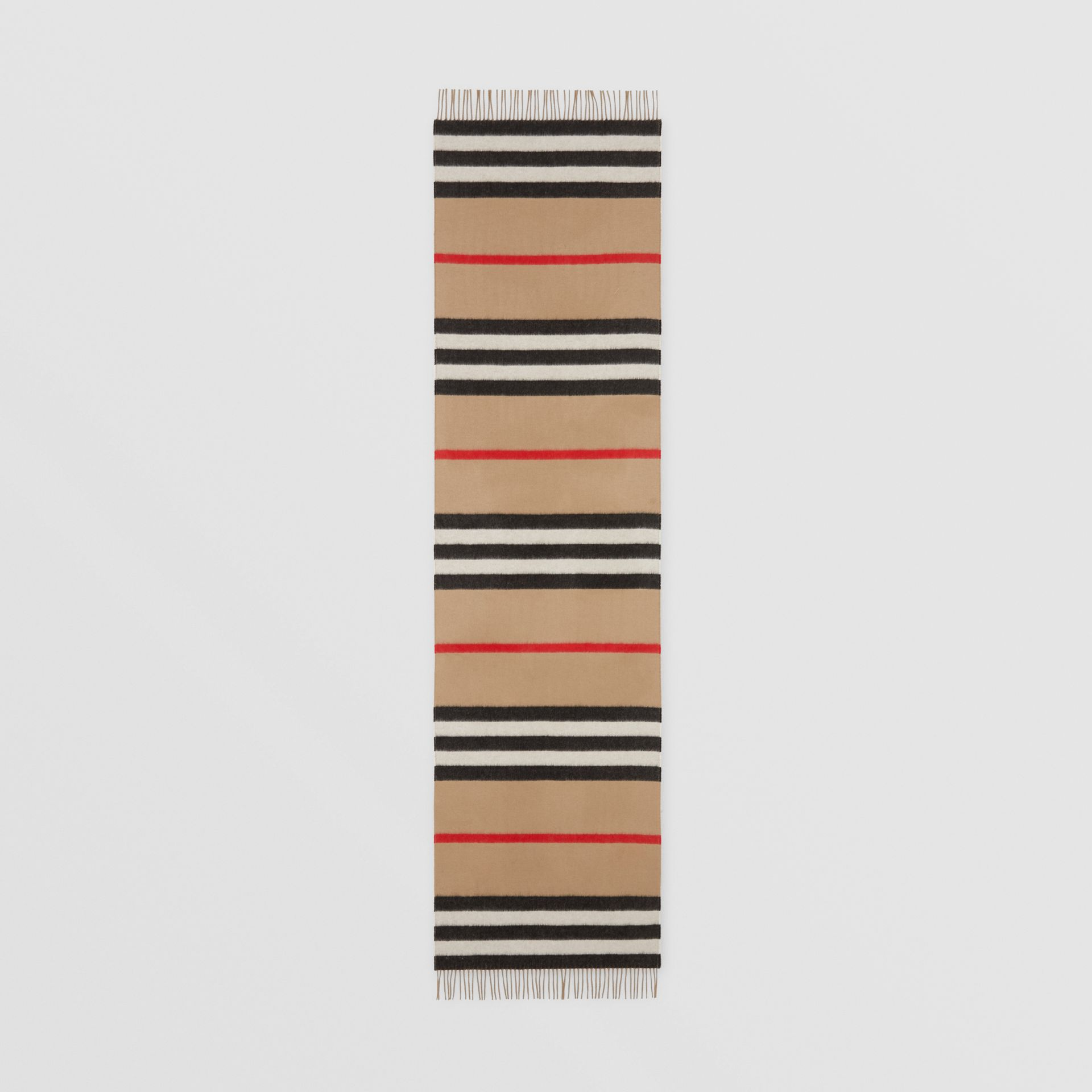 Icon Stripe Cashmere Jacquard Scarf in Archive Beige | Burberry - gallery image 5